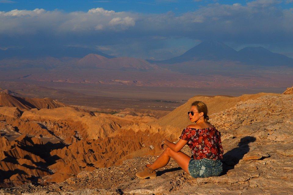 Nieśmiertelny widok na Dolinę Śmierci na Atakamie