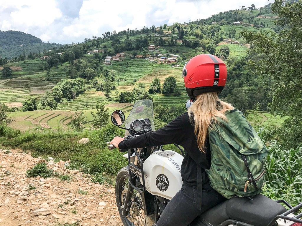 Motocyklem po Kathmandu i okolicach