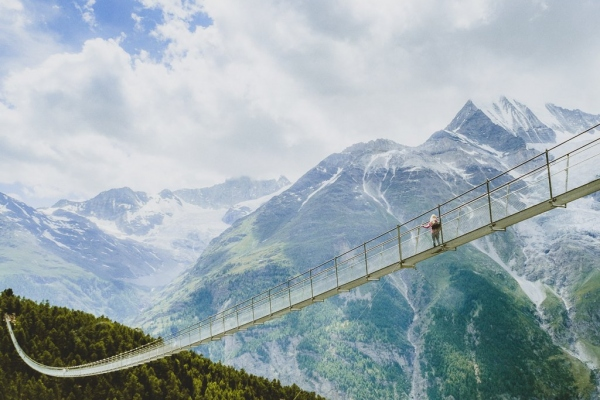 Charles Kuonen Suspension Bridge – the longest suspension bridge in Europe - just don't look down!