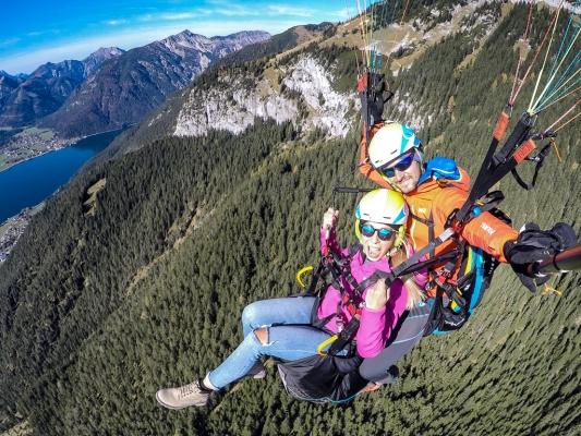 Najlepsze miejsce na lot paralotnią w Tyrolu