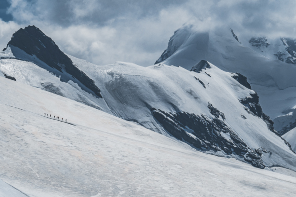 Matterhorn Glacier Paradise (Klein Matterhorn) in Switzerland - overwhelming power of nature and the views on 14 glaciers