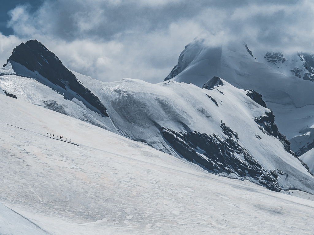 Matterhorn Glacier Paradise (Klein Matterhorn) in Switzerland - overwhelming power of nature and the views on 14 glaciers
