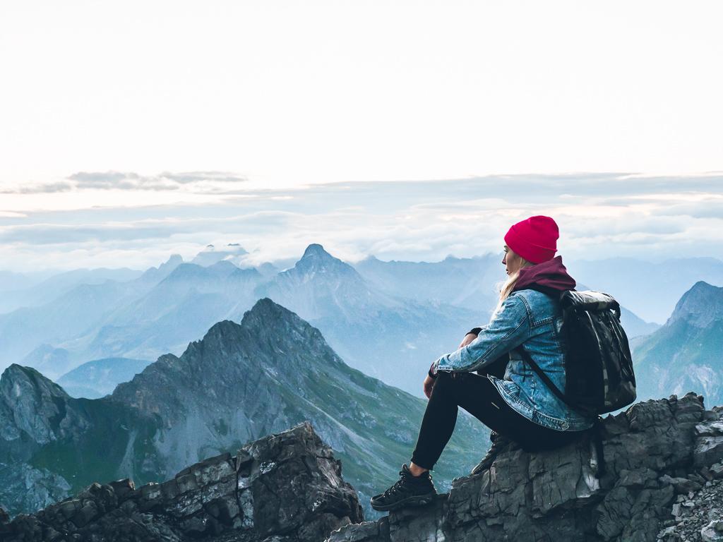 Mohnenfluh summit – wschód słońca w austriackich Alpach i jeden z najtrudniejszych hików w Lech Zürs