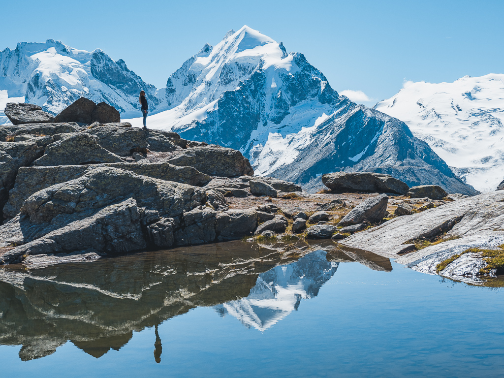 The most beautiful hike in St. Moritz in Switzerland –  from Fuorcla Surlej to Pontresina